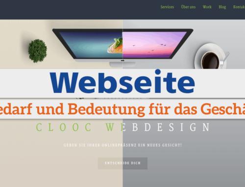 Webseite: Bedarf und Bedeutung für das Geschäft?