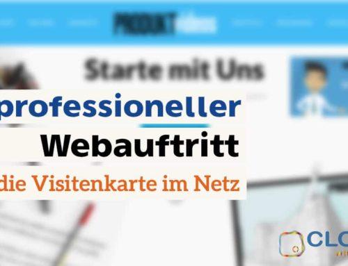 Ein professioneller Webauftritt – die Visitenkarte im Netz